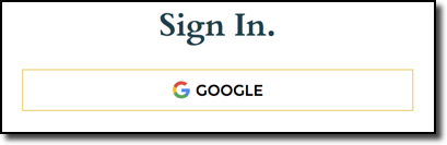 Google sign on